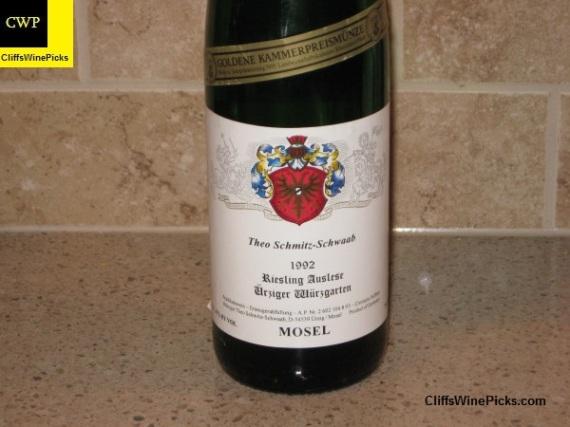 1992 Theo Schmitz-Schwaab Urziger Wurzgarten Riesling Auslese Fuder #8