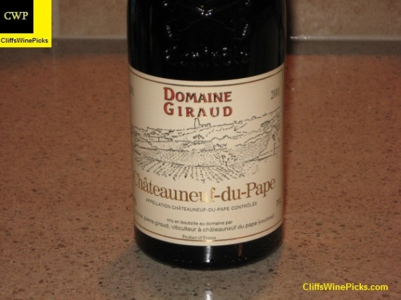 2001 Domaine Giraud Chateauneuf-du-Pape