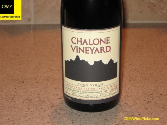 2002 Chalone Vineyard Syrah Chalone