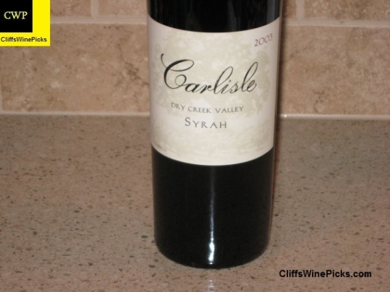 2003 Carlisle Syrah Dry Creek Valley