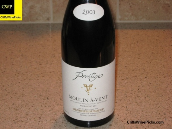 2003 Georges Duboeuf Moulin-a-Vent Prestige