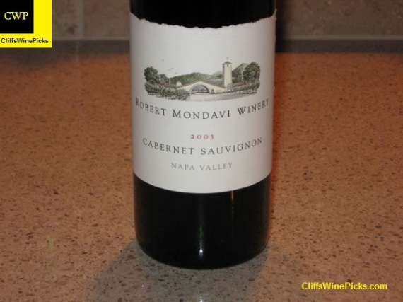 2003 Robert Mondavi Winery Cabernet Sauvignon Napa Valley