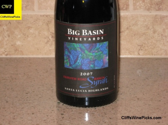 2007 Big Basin Vineyards Syrah Fairview Ranch