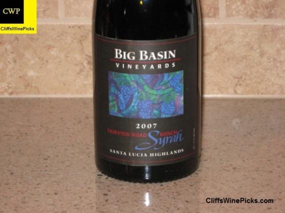 2007 Big Basin Vineyards Syrah Fairview Ranch