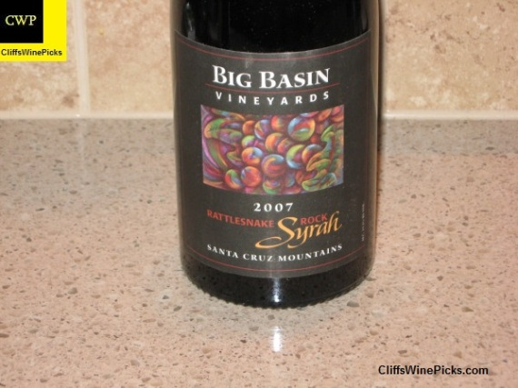 2007 Big Basin Vineyards Syrah Rattlesnake Rock