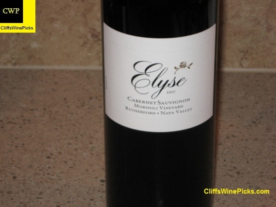 2007 Elyse Cabernet Sauvignon Morisoli Vineyard 2
