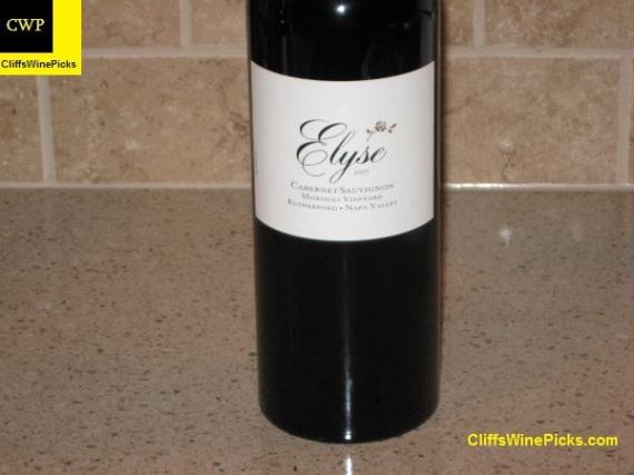2007 Elyse Cabernet Sauvignon Morisoli Vineyard