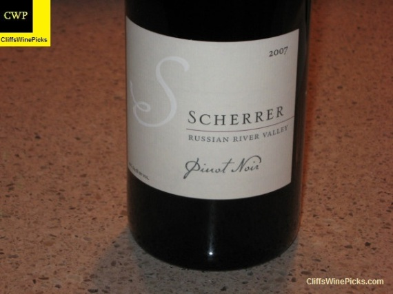 2007 Scherrer Winery Pinot Noir Russian River Valley
