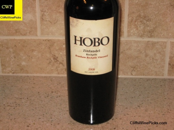 2008 Hobo Wine Company Zinfandel Branham Vineyard Rockpile