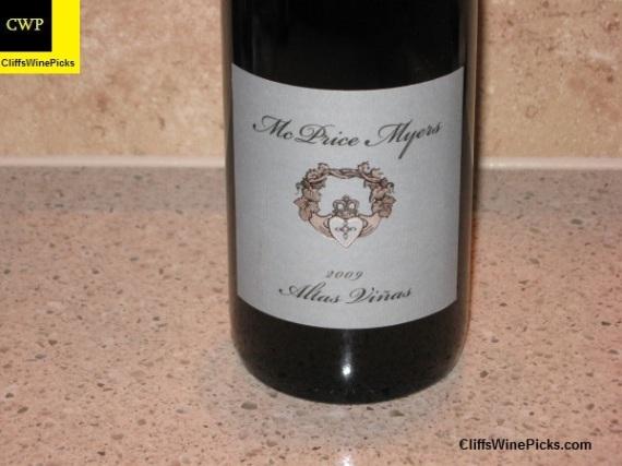 2009 McPrice Myers Altas Vinas Alta Mesa Vineyard