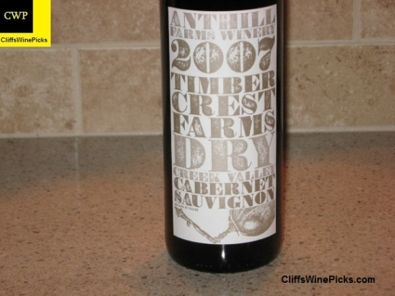 2007 Anthill Farms Cabernet Sauvignon Timber Crest Farms Vineyard