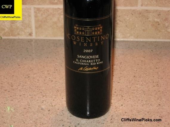 2007 Cosentino Winery Sangiovese Il Chiaretto