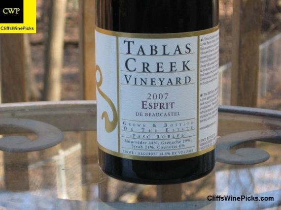 2007 Tablas Creek Esprit de Beaucastel