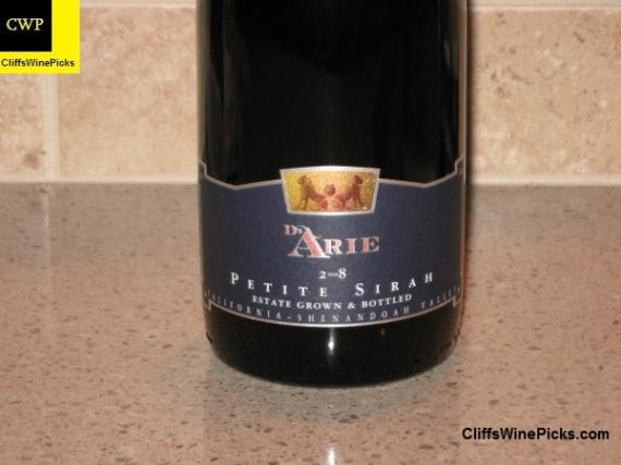 2008 C G di Arie Petite Sirah Estate Grown