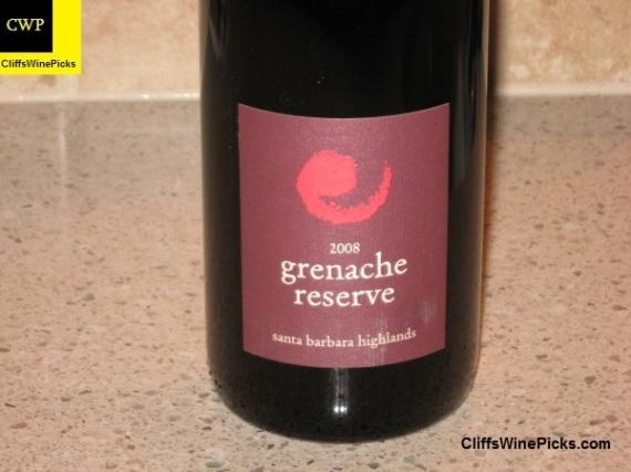 2008 Core Grenache Reserve Santa Barbara Highlands Vineyard