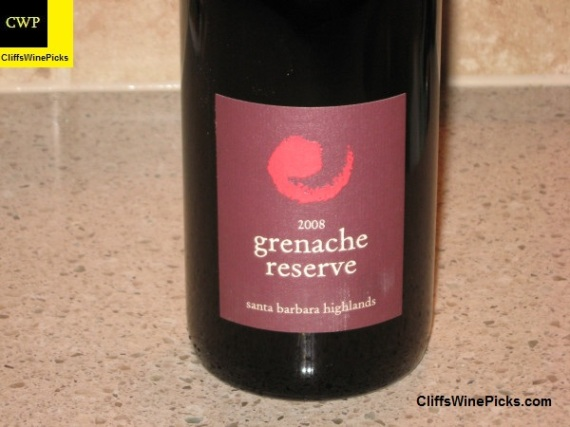 2008 Core Grenache Reserve Santa Barbara Highlands Vineyard