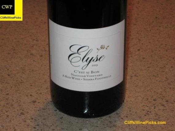 2009 Elyse C'est Si Bon Naggiar Vineyard