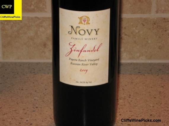 2009 Novy Family Wines Zinfandel Papera Ranch