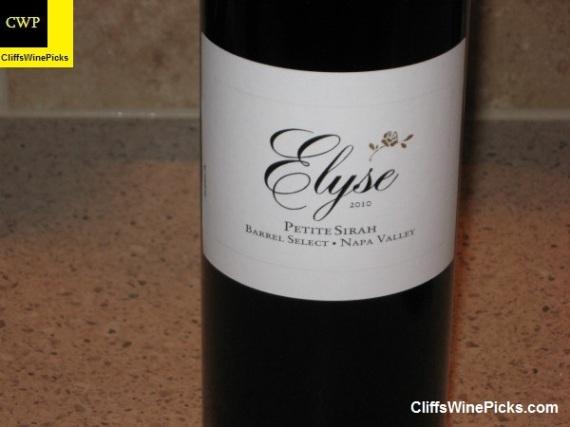 2010 Elyse Petite Sirah Barrel Select