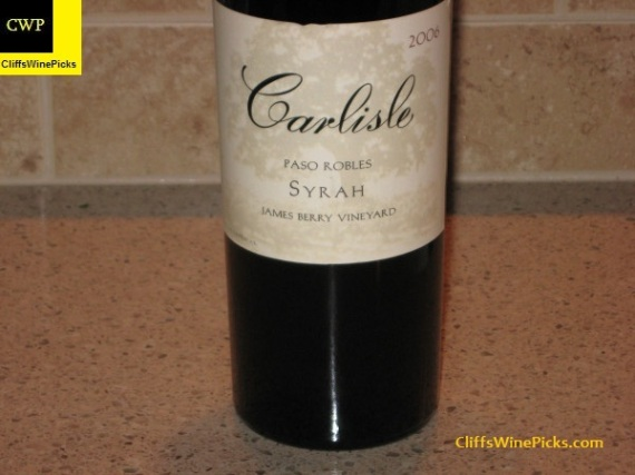 2006 Carlisle Syrah James Berry Vineyard