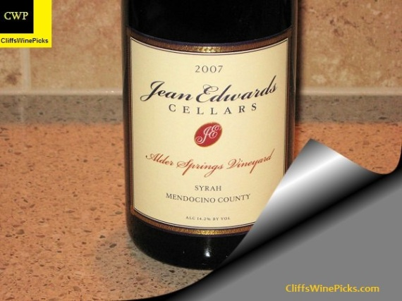 2007 Jean Edwards Cellars Syrah Alder Springs Vineyard Mendocino County