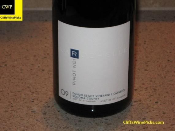 2009 La Rochelle Pinot Noir Donum Estate Vineyard