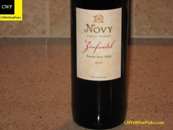 2010 Novy Family Wines Zinfandel Russian River Valley
