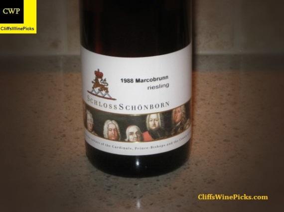 1988 Schloss Schonborn Erbacher Marcobrunn Riesling Spatlese