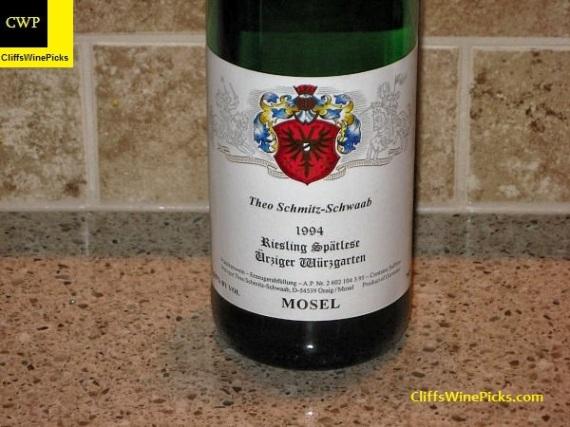 1994 Theo Schmitz-Schwaab Urziger Wurzgarten Riesling Spatlese #3