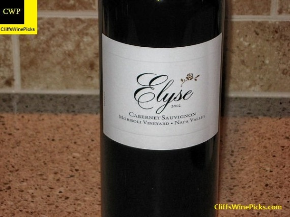 2002 Elyse Cabernet Sauvignon Morisoli Vineyard