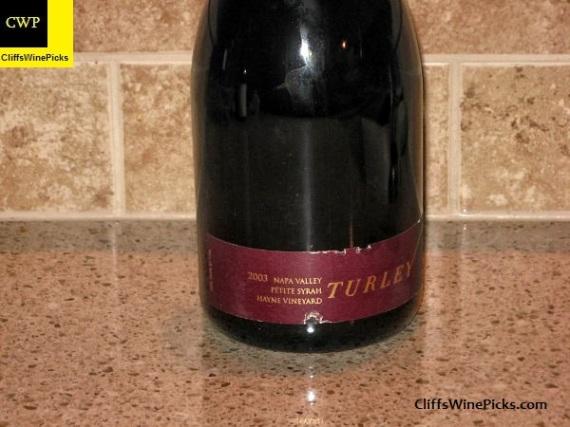 2003 Turley Petite Syrah Hayne Vineyard