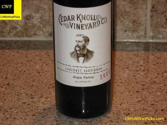2004 Palmaz Vineyards Cabernet Sauvignon Cedar Knoll Vineyard