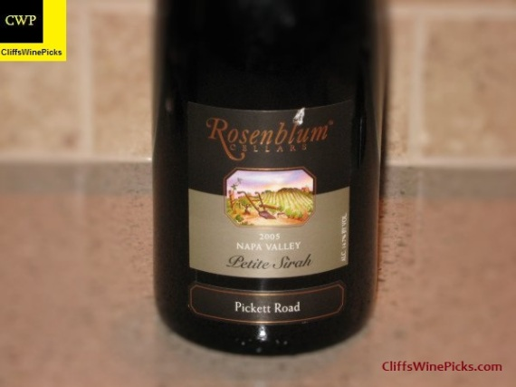 2005 Rosenblum Cellars Petite Sirah Pickett Road Vineyard