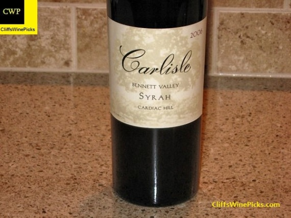 2006 Carlisle Syrah Cardiac Hill