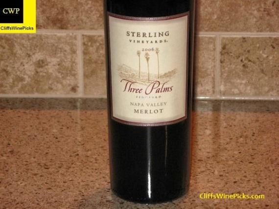 2006 Sterling Vineyards Merlot Three Palms Vineyard