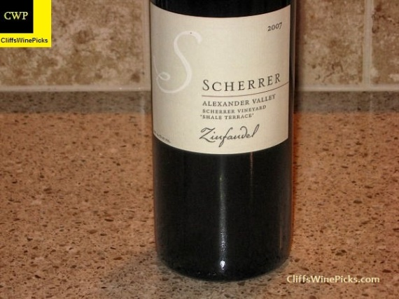 2007 Scherrer Winery Zinfandel Scherrer Shale Terrace