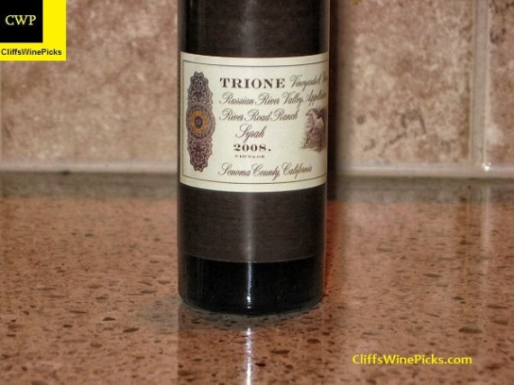 2008 Trione Syrah River Road Ranch