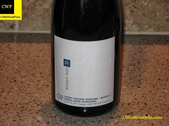 2009 La Rochelle Pinot Noir Sleepy Hollow Block A