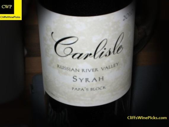 2010 Carlisle Syrah Papa's Block