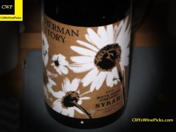 2010 Herman Story Syrah White Hawk Vineyard