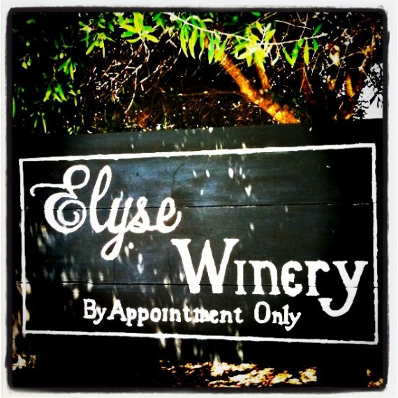 Elyse Winery sign