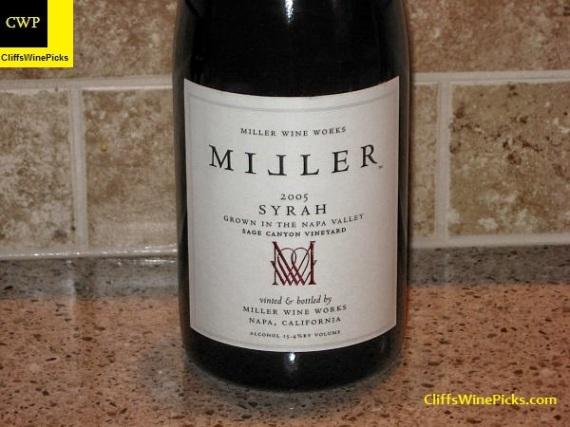 2005 Miller Wine Works Syrah Sage Canyon Vineyard