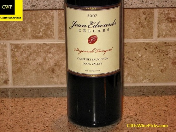 2007 Jean Edwards Cellars Cabernet Sauvignon Stagecoach Vineyard