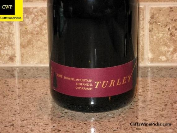 2008 Turley Zinfandel Cedarman