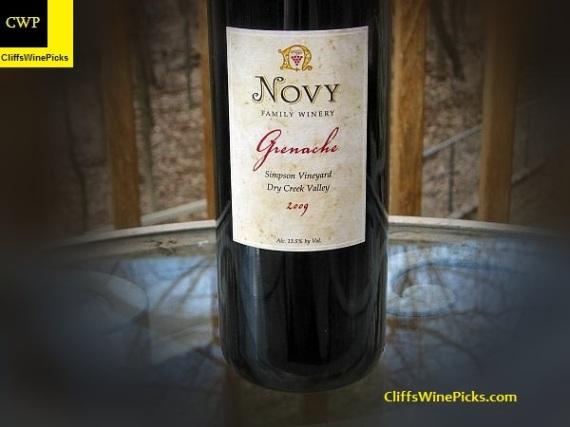 2009 Novy Family Wines Grenache Simpson Vineyard2