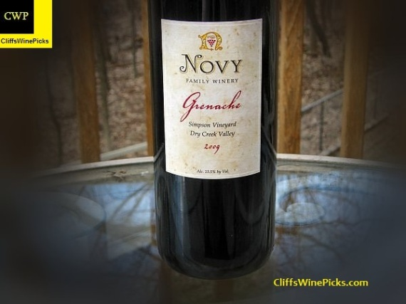 2009 Novy Family Wines Grenache Simpson Vineyard2