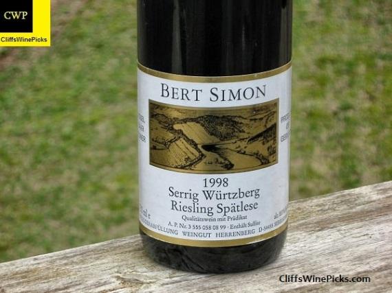 1998 Bert Simon Serriger Wurtzberg Riesling Spatlese