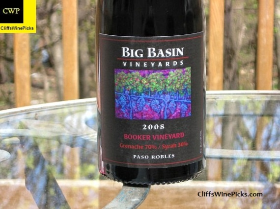 2008 Big Basin Vineyards Grenache-Syrah Booker Vineyard
