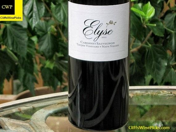 2002 Elyse Cabernet Sauvignon Tietjen Vineyard