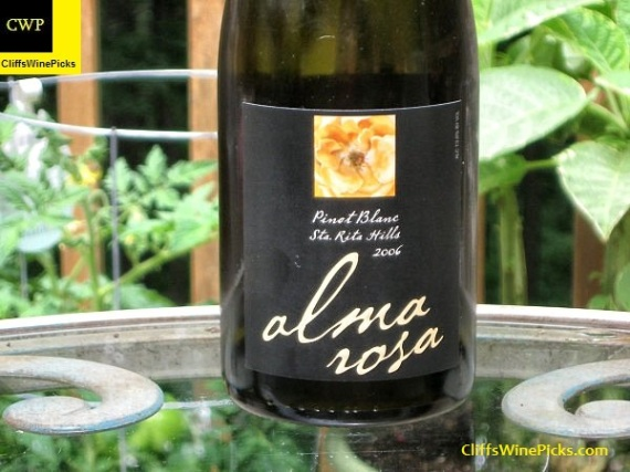 2006 Alma Rosa Pinot Blanc Sta. Rita Hills